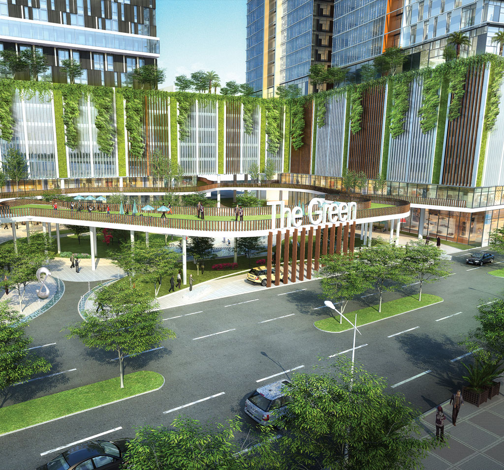 The Green Melaka Kota Laksamana developer development property in green concept with earth saving architecture living park and commercial real estate development.